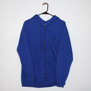 Cozy Blue Chaps Zip-up Hoodie Size Large